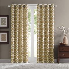 Madison Park Bergamo Ogee Chenille Curtain Panel   Overstock.com Shopping - The Best Deals on Curtains