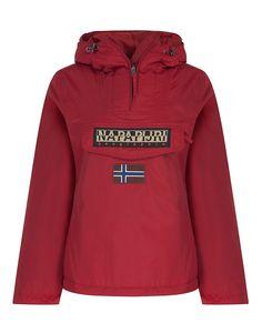 bcf801e90bf Napapijri Women s Rainforest Winter Pullover Jacket - Old Red
