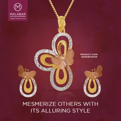 For women of style, this beautiful pendant from Malabar Gold and Diamonds is the perfect compliment to your lovely charm.