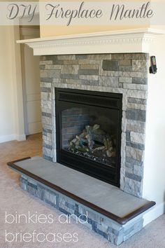 DIY floating fireplace mantle project: learn how to build your own with only five boards!