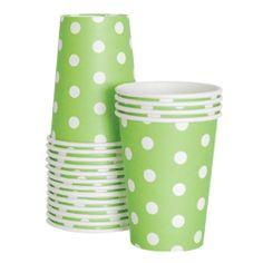 Green Stripe Cups $5.95