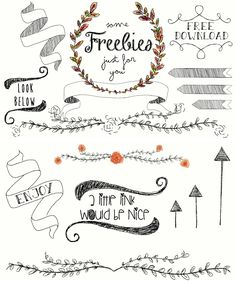 Free borders and bracket frames // Download | Frames and Sweet
