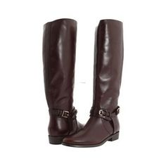 I'm sure I could never afford these...Leather Boots For Women | Leather Boots, Burberry Bridle Leather Flat Riding Boot Women ...