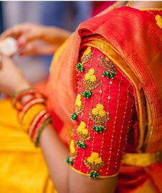 Wedding Saree Blouse Designs, Pattu Saree Blouse Designs, Blouse Designs Silk, Blouse Patterns, Lehenga Blouse, Skirt Patterns, Coat Patterns, Sewing Patterns, Hand Work Blouse Design