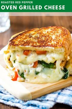 Red Pepper Grilled Cheese Lunch Recipes, Salad Recipes, Dinner Recipes, Cooking Recipes, Healthy Recipes, Sandwich Recipes, Salad Sandwich, Grill Sandwich, Sandwich Ideas
