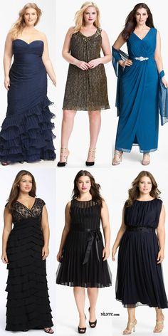 Bonita colección de vestidos para tallas grandes.