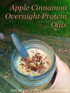 Apple Cinnamon Overnight Oats recipe - start your day healthy! No cooking required. Gluten free, vegan, high protein - perfect way to start your day!