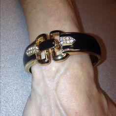 Stella & Dot bracelet.  PRICE FIRM Black gold with tiny crystals  beautiful Stella & Dot Jewelry Bracelets