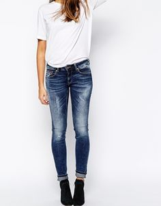 Hilfiger Denim Sophie Skinny Jeans With Distressing