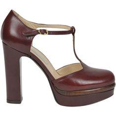L'Autre Chose T-Bar Pumps ($236) ❤ liked on Polyvore featuring shoes, pumps, high heel platform pumps, platform shoes, high heel shoes, t strap pumps and t strap high heel shoes