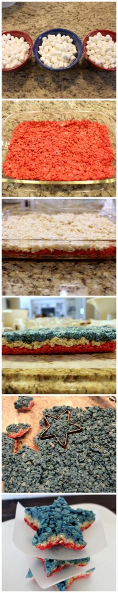 rice krispie stars for Fourth of July