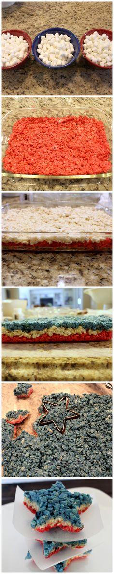 Rice Krispie Stars - EASY last minute dessert for 4th of jJuly!