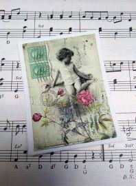 Label Postcard girl