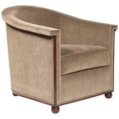 Armchair Boule Model By Jules Leleu Circa 1930 Art Deco Furniture Deco Furniture Furniture Upholstery
