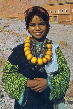 Africa | Picturesque Morocco; Young Berber Girl || Scanned postcard; publisher ITACOLOR. No 7830