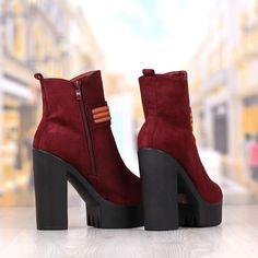 Botine Dama Grena Cu Toc Cod: 232p Booty, Shoes, Fashion, Moda, Swag, Zapatos, Shoes Outlet, Fashion Styles, Shoe