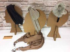Mannequin Head display design cardboard hat display stand #DisplayStands