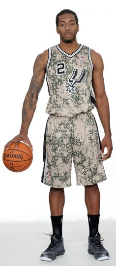 2013 San Antonio Spurs Adidas Military Inspired Camo Uniform
