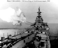 May 25, 1952 - USS Iowa (BB 61) begins shelling industrial and rail centers at Chongjin, Korea. For her Korean War service, she receives two battle stars.