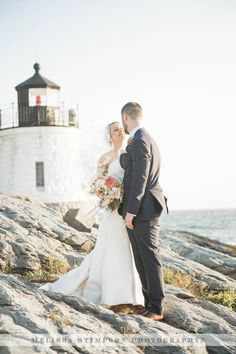 Destination Wedding, Wedding Photograph, Beach Wedding, Lighthouse Portrait, Bride and Groom Portrait, Candid Pose, Candid Photo