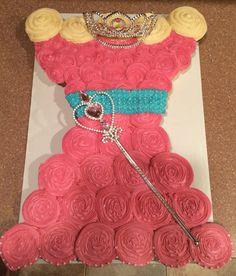Pretty Princess Cupcake Cake