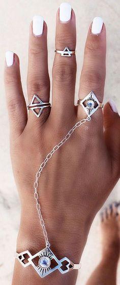 Boho jewelry :: Rings, bracelet, necklace, earrings + flash tattoos :: For Gypsy…
