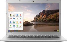"Popular on Best Buy : Toshiba - 13.3"" Chromebook 2 - Intel Celeron - 4GB Memory - 16GB Solid State Drive - Silver"