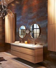 Nuevo en la Sala, la colección de baño 2014 de Ikea: El mobiliario GODMORGON suspendido con su cuenca Odensvik forman un conjunto que combi...