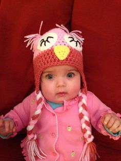 Owl Hat, Sleepy eyed Owl Hat, Baby Owl Hat, Child Owl Hat. - pinned by pin4etsy.com