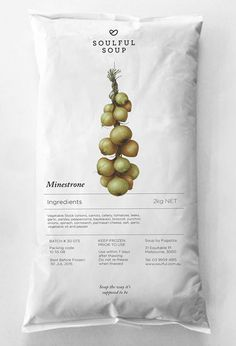 Minestrone. Soulful Soup food packaging // Truly Deeply