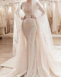 Wedding Robe, Fancy Wedding Dresses, Wedding Dress Sleeves, Wedding Dress Styles, Bridal Dresses, Wedding Gowns, Prom Dresses, Tulle Wedding, Formal Dresses