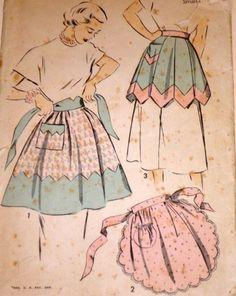 Vintage 40's Advance 4998 Sewing Pattern Misses'