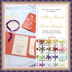 DIY Flame Pocket Folder Invitations: Pick your color pocket folder; your template; and your ribbon--your set to create fabulous invitation! #pumpkin #love #whatmakesmehappy