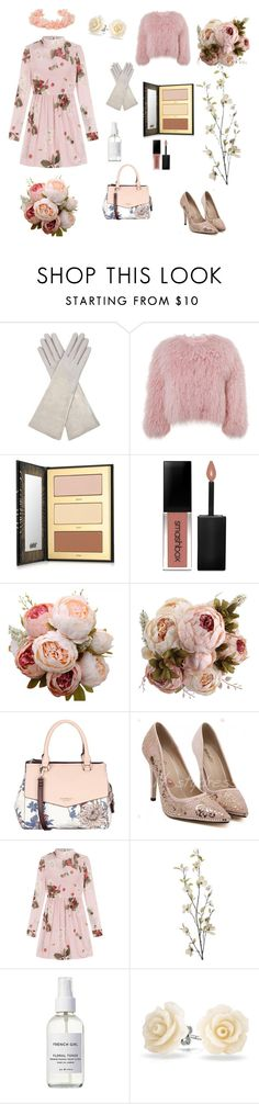 """""""Ruthless as a rose petal"""" by me1ody ❤ liked on Polyvore featuring Aquatalia by Marvin K., Charlotte Simone, tarte, Smashbox, Fiorelli, RED Valentino, Pier 1 Imports, French Girl, Bling Jewelry and AURA Headpieces"""