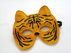 Tiger Children Mask, Kids Carnival Mask, Halloween Animal Dress up Costume Accessory for Boys, Children Pretend Play Toy Toddler
