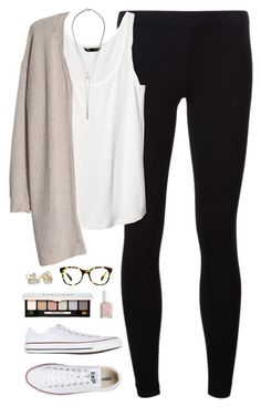 """""""1.1.15"""" by classically-preppy ❤ liked on Polyvore featuring James Perse, H&M, MANGO, Converse, Warby Parker, Bobbi Brown Cosmetics, Essie, Kate Spade and CO"""