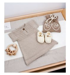 Knitted infant dress