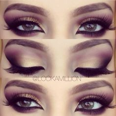 This is my favorite smokey eye, the color choices are perfect. I also love that little touch of eyeliner on the inner eye. Very elegant, but very versatile
