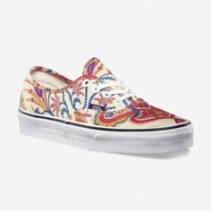 Hey Poppy, Murf stocks these. the Liberty fabric is fused to the canvas. Vans Liberty Authentic Shoes