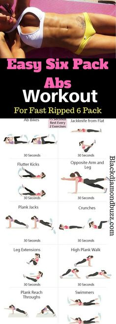 Easy Six Pack Abs Workout at Home for Fast Ripped 6 pack in a week .These abs exercises will burn belly fat fast and toned your tummy.