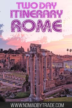 If you're planning to visit Rome, Italy, you'll want to hit all the best things to do in Rome. This Rome itinerary has all of the top sights in Rome. Including visiting the Colosseum, touring the Vatican museums, Castel Sant'Angelo, the Trevi Fountain, the Spanish Steps, and more, this is the perfect itinerary for two days in Rome. #Rome #Italy #Vatican #travel #wanderlust #TravelBlog #Europe #Traveller #Colosseum #TreviFountain #RomanForum