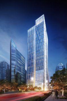 Sequis Centre Tower,KPF, Jakarta, - 210 m, 39 fl, prop. - http://www.archdaily.com/463217/sequis-centre-tower-kpf/