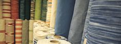Majorcan and ikat fabrics by the metre. Over 50 patterns and colours to choose from.