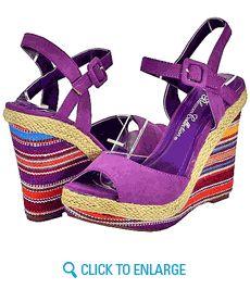 Blossom Again-4 Purple Women Wedge Sandals