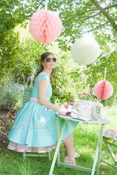 Pastell Petticotkleider