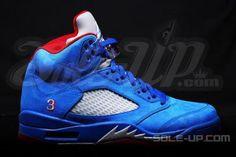 NIKE AIR JORDAN 5 RETRO GAME ROYAL/GYM RED-METALLIC SILVER #sneaker