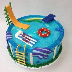 25 pool party cakes that cause a sensation! - # - 25 pool party cakes that cause a sensation! Bolos Pool Party, Pool Party Cakes, Pool Party Kids, Summer Pool Party, Water Party, Summer Birthday, Kid Parties, Birthday Ideas, 13 Birthday