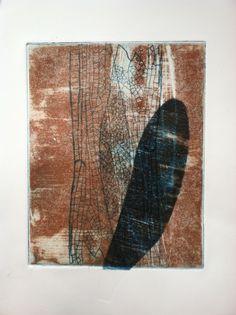 "Contemporary Printmaking - ""Wings 11"" (Original Art from Paula Zinsmeister)"