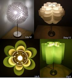 Beautiful lamps made of plastic bottles