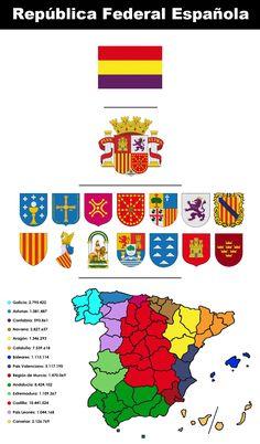 En el mapa se muestra la división de las diferentes comunidades de España